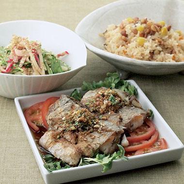 秋刀魚のピリ辛煮他4品