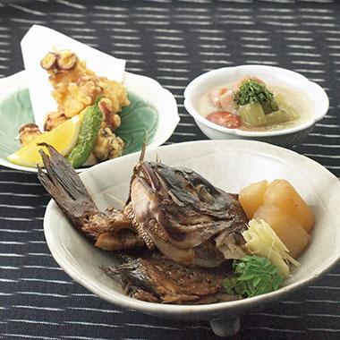鯛の兜煮など3品