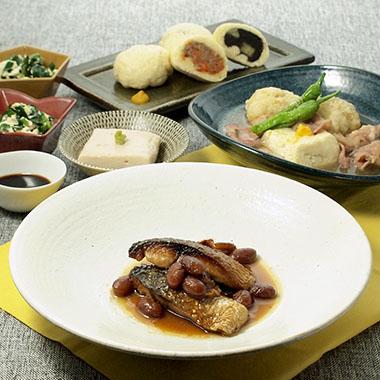 高野おこげご飯と鴨の治部煮など