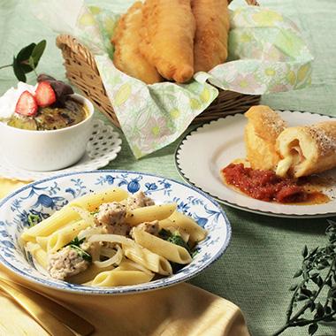 イタリア風チーズドッグなど3品